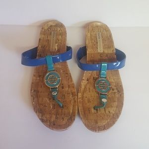 Dana Buchman Blue & Turquoise Sandals Size 9
